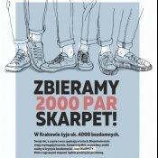 """Zapraszamy do udziału w akcji """"Zbieramy 2000 par skarpet"""" dla ubogich"""