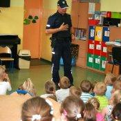 Panowie Policjanci odwiedzili przedszkolaków