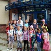 Klasa Ib z wizytą w szkole w Goczałkowicach