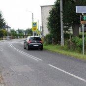 Wyświetlacz prędkości w okolicy szkoły