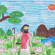 Karty Ewangelii w pracach plastycznych naszych uczniów kl. 5-8