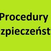 Procedury bezpieczeństwa od 1 września 2020 roku