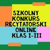 Szkolny Konkurs Recytatorski online